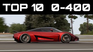 Download TOP 10 FASTEST 0-400 CARS | Forza Motorsport 7 | Crazy Accelerations! Video