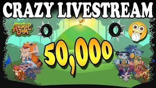 Download Crazy Animal Jam Livestream - 50,000 Subscribers! Mega Giveaways! Video