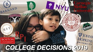 Download COLLEGE DECISION REACTIONS 2019 | DARTMOUTH, NORTHEASTERN, NYU, JOHNS HOPKINS, BARNARD + MANY MORE! Video