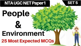 Download UGC NET Paper 1 (Set 5) People and Environment 25 Most Expected Questions (जन एवं पर्यावरण) Video
