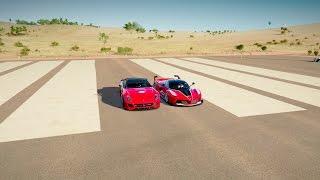 Download Ferrari 599XX vs Ferrari FXXK - DRAG RACE! Forza Horizon 3 Video