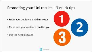 Download Webinar | Promoting your U-Multirank results Video