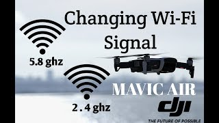 Download DJI Mavic Air Switching 2.4 ghz to 5.8 ghz WiFi Explained Video