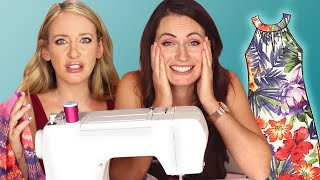 Download Women Try To Sew Their Own Clothes Video