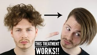 Download Keratin Hair Treatment - Mens Curly Hair Transformation + How To Style 2018 Video