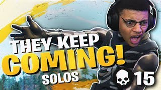Download THEY JUST KEEP COMING! EXCITING 15 KILL SOLO (Fortnite BR Full Match) Video