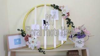 Download DIY floral photo hoop / foto mural hula Video