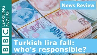 Download Turkish lira fall: who's responsible?: BBC News Review Video
