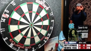 Download Rattlesnake vs Newfie-1966 -WDA darts Video