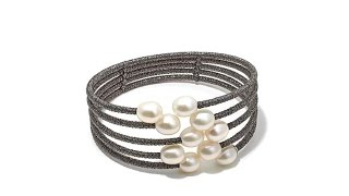 Download Imperial Pearls 7.58mm Cultured Pearl Cuff Bracelet Video