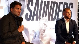 Download EDDIE HEARN UNVEILS SIGNING OF BILLY JOE SAUNDERS (FULL) PRESS CONFERENCE & TALK CANELO, GGG, EUBANK Video
