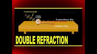 Download Double Refraction | Bartholinus Experiment by Using Calcite Crystal | Online Physics Video Tutorials Video