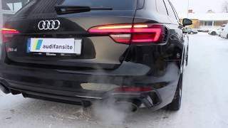 Download STUNNING black 2018 Audi RS4 450 PS with black optics | Start up|revs| dynamic turning signals etc Video