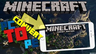 Download HOW to CONVERT maps FROM Minecraft Java Edition to Minecraft (PE) HOW to PORT maps!!!! Video