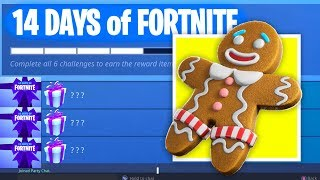 Download *NEW* 14 DAYS OF FORTNITE GIFT EVENT - FREE Fortnite Christmas Challenges! (Fortnite Battle Royale) Video