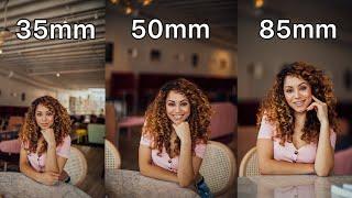 Download 35mm vs 50mm vs 85mm Lens Comparison for Portrait Photography Video