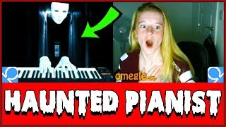 Download SPOOKY Ghost Plays Piano On Omegle Prank!! (Reactions) Video