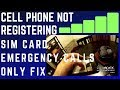 Download How To Fix Cell Phone Not Registering Sim Card Emergency Calls Only Macgyver Style Video