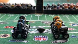"""Download MONSTER TRUCK FOOTBALL PLAYOFF GAME """"TEXANS VS PACKERS"""" Video"""
