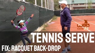Download Tennis Serve: how to correct the racquet back-drop Video