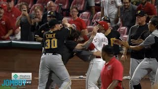 Download Amir Garrett, Puig & David Bell take on the Pirates in a benches clearing brawl, a breakdown Video