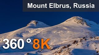 Download 360 video, Journey to Elbrus Mountain, Russia. 8K aerial video Video