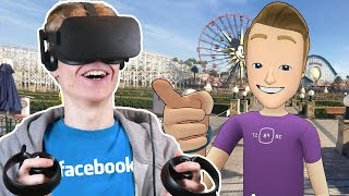 Download FACEBOOK IN VIRTUAL REALITY! | Facebook Spaces VR (Oculus Touch Gameplay) Video