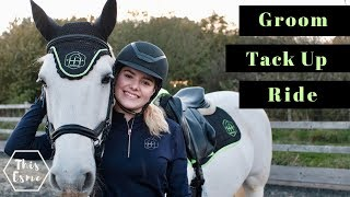 Download Groom, Tack up and Ride with Me and my Horse for Showjumping | Equestrian Routine | This Esme Video