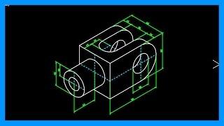 Download Autocad - Círculos en isométrico. Dibujar pieza con elipses isométricas. Tutorial en español HD Video