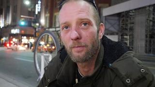 Download Michael is homeless in Toronto, Canada. He has walking pneumonia. Video