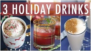 Download 3 DIY HEALTHY HOLIDAY DRINKS | EASY DRNK RECIPES Video