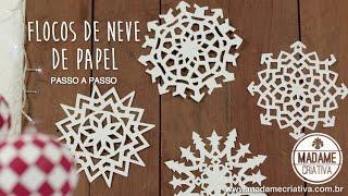 Download DIY Como fazer flocos de Neve com Papel - Decoração Festa Frozen - Paper Snowflakes EASY DIY Video