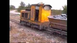 Download Ardoisieres D'Angers; 600mm railway at Trélazé, France. Video
