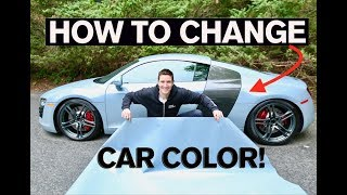 Download How to Change Car Color in 2 Days! Vinyl Wrap: Step by Step Guide Audi R8 Video