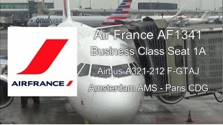 Download Air France AF1341 Business Class Experience Airbus A321 F-GTAJ from Amsterdam to Paris Flight Report Video