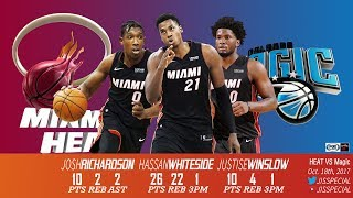 Download 2017.10.18 Heat vs Magic Winslow, Whiteside, Richardson Highlights Video