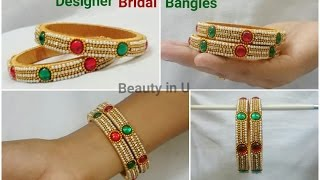 Download How to make Designer Bridal Bangles at Home | Tutorial| Model for sale at beautyinustores | Video