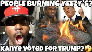 Download PEOPLE BURNING YEEZY'S? KANYE VOTED FOR TRUMP? KANYE WEST SUPPORTS DONALD TRUMP? Video