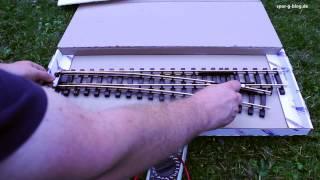 Download Spur-G-Blog: 210cm Weiche von Train Line Gartenbahnen mit Herzstück Video