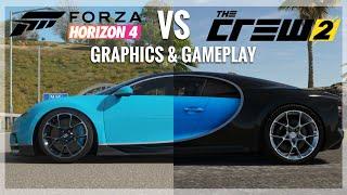 Download Forza Horizon 4 vs The Crew 2 |Bugatti Chiron Engine Sound, Gameplay & Graphics Comparison Video