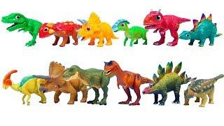 Download 아기 공룡 엄마 아빠 공룡 찾기, 공룡메카드 타이니소어 티라노 스테고 안킬로 트리케라톱스 Video