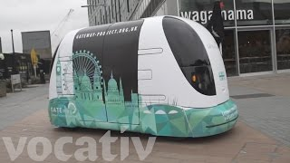 Download Driverless Shuttle Bus Being Tested In London Video