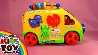 Download Yellow bus. Cheerful videos for development of children. Sorter. Learn animals. Teach figures. Video