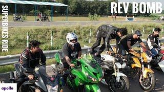 Download Rev Bomb Competition | Burnouts | SuperBikes Ride | Apollo Tyres Video