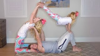 Download HILARIOUS FAMILY YOGA CHALLENGE!!! (Trying impossible poses) Video