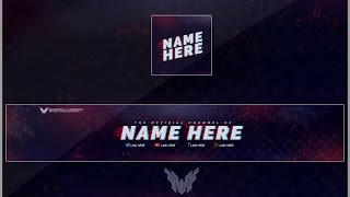 Download Free Youtube Banner & Avatar Revamp/Rebrand Template Video