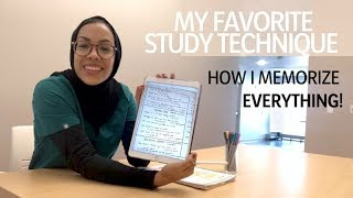 Download HOW I MEMORIZE EVERYTHING! My favorite study technique Video