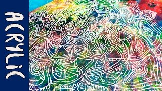 Download Mandala Acrylic Painting | Zentangle | Colorful time lapse Video