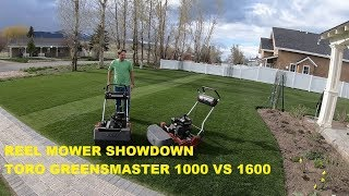 Download Toro Greensmaster Showdown 1600 vs 1000 Video