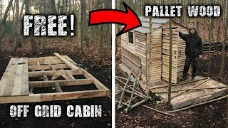 Download Building an Off Grid Cabin using Free Pallet Wood: A Wilderness Project Video